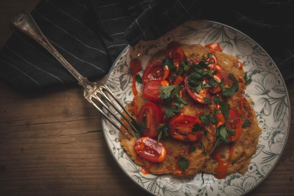 wege omlety omlety z ciecierzycy wegańskie omlety przepis
