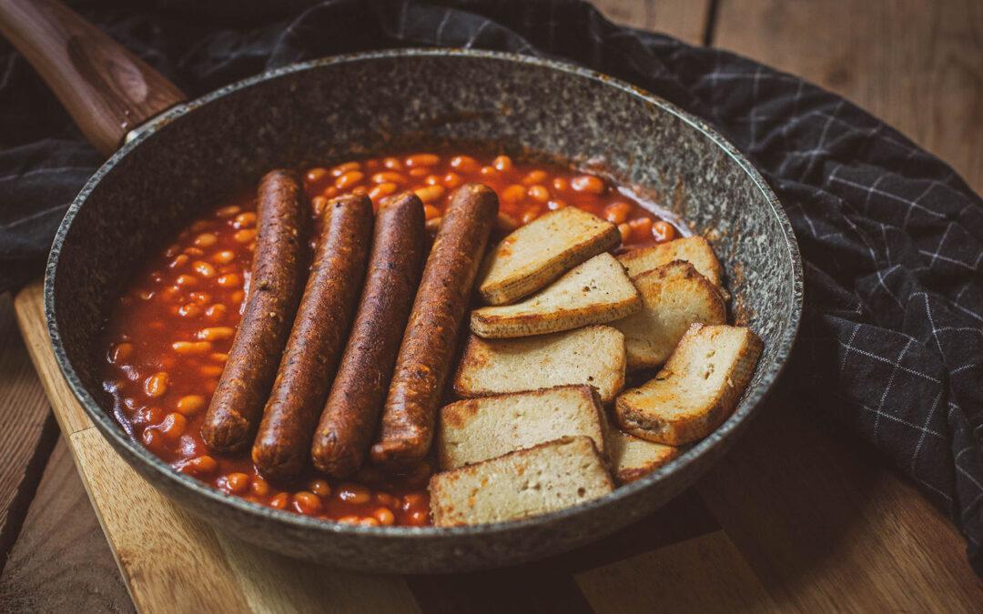 Angielskie śniadanie wege